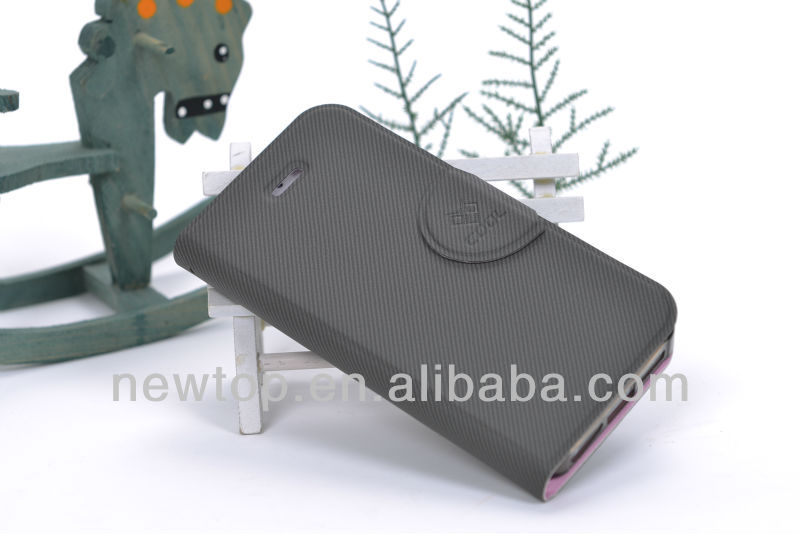 2014 Stand wallet PU flip cover case for Samsung Galaxy Note 2