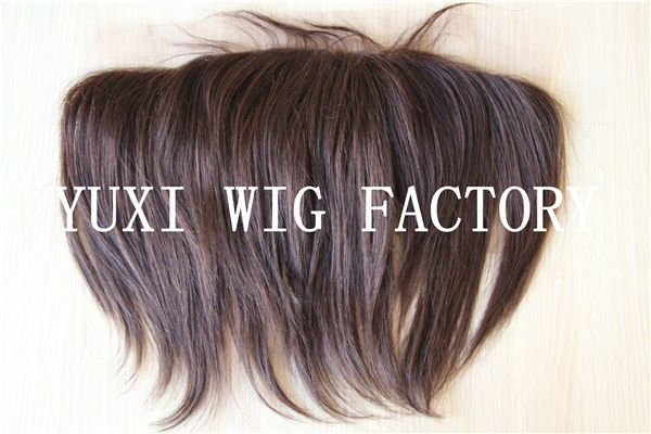 "13""X4"" wholesale human hair full lace frontal closures with baby hair"