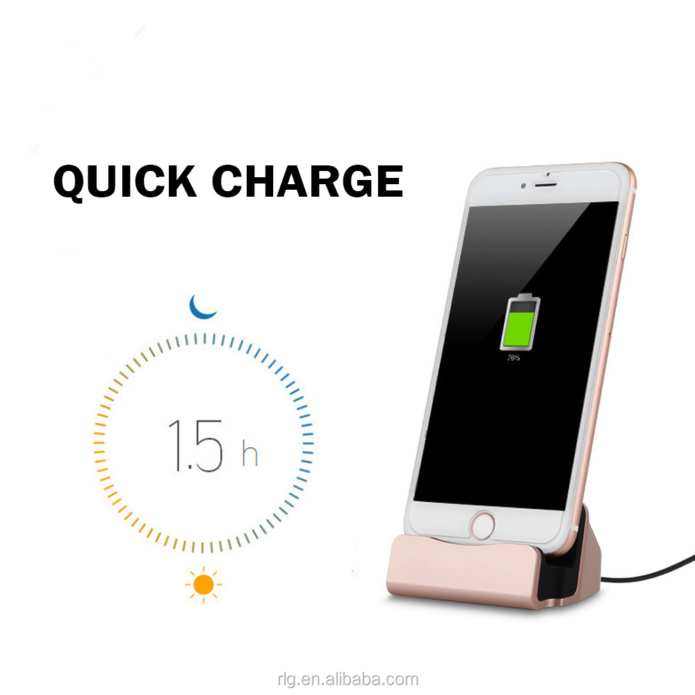 3 in 1 Functions Charging Dock for iPhone 4.7 5.5 inch Charger+Sync+Holder USB Charger Stand One Size for All 2A Matt Base