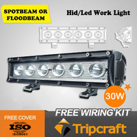 30w 11 inch offroad bull bar led light bar with factory price