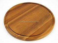 Acacia Wood Cheese Board with Groove
