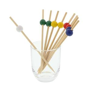 fruit meat bamboo pick double ball/bamboo sticks with double ball
