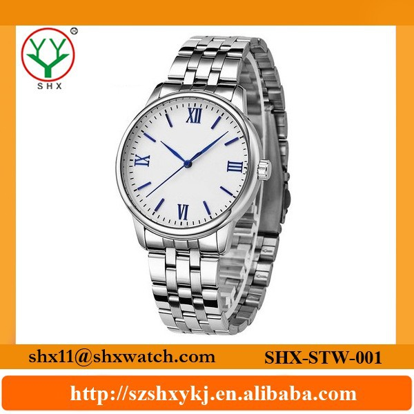 Fashionable design and delicate handwork stainless steel watch for men