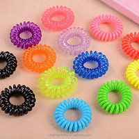 Medium and small number of telephone lines high elastic hair band hair rope translucent candy-colored headdress XN057