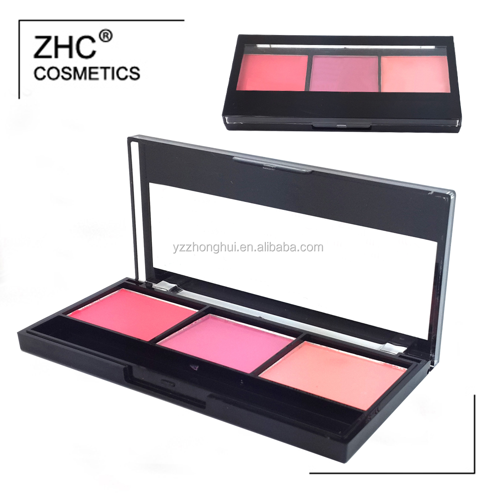 CC4262 Mix Color makeup blush palette with shiny color blush in high quality container