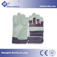 Cow Split Leather Double Palm Welding Gloves Working Protection Gloves