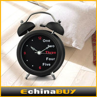 3 inches classic retro metal twin bell table alarm clock