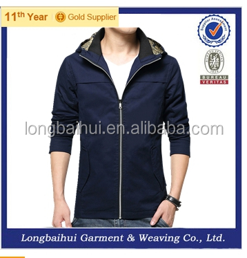 Spring new men cotton softshell jacket style
