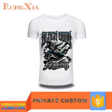 Custom Logo Outdoor Hip Hop Style Men`s White T Shirt