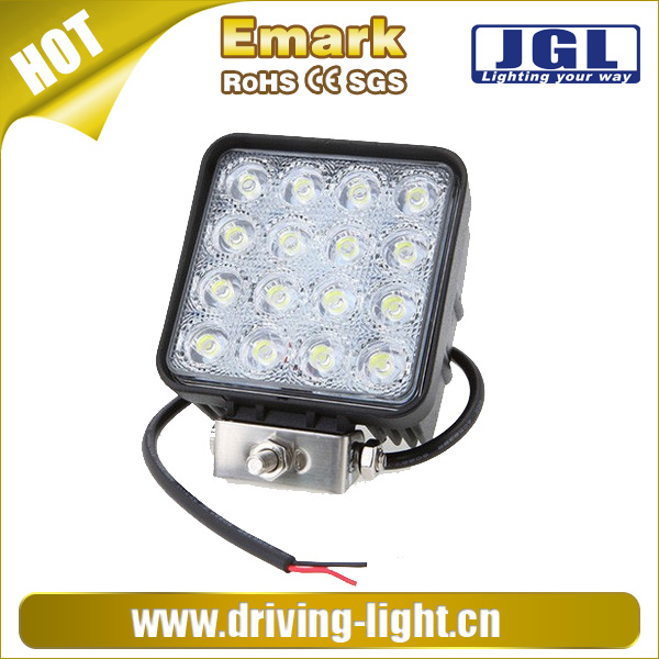 Auto off road 48w led flood spot work light, led 12V/24V work light flood spot lamp truck car 4x4
