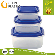 PP food grade plastic container with lids