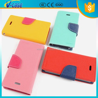 Wholesale credit card leather wallect flip case for nexus 4