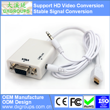 Micro HDMI to VGA Converter Cable with Audio ( HD Video Conversion 3D 1080P) for Tablet Projector HDTV DVD
