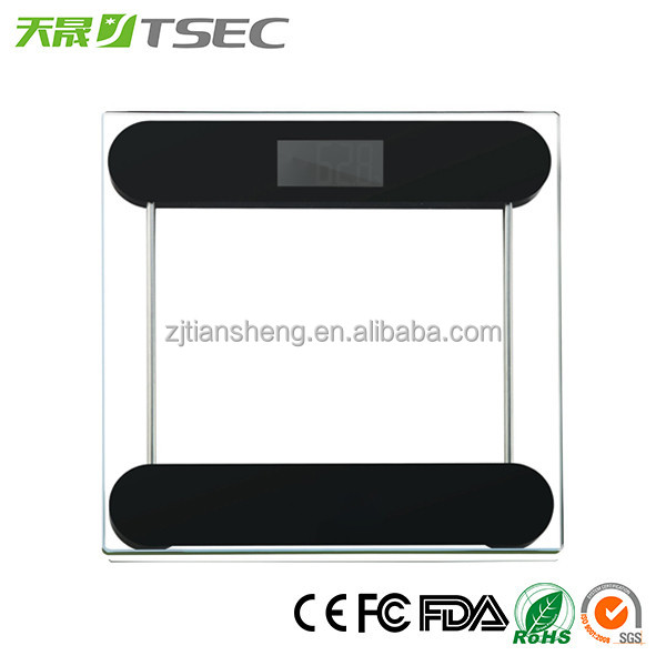 CE 180kg 6mm Glass Body Weighing Digital Household Bathroom Scales