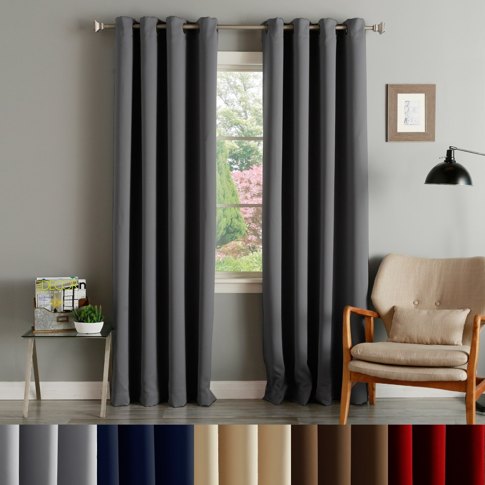 Wholesale Polyester Solid Weaving Luxury Hotel Blackout Window Curtain