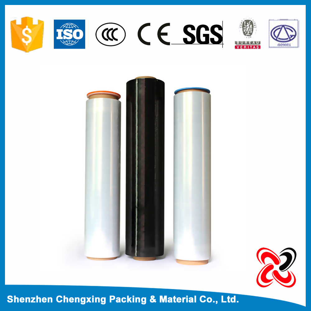 Thick clear heat shrink plastic stretch film