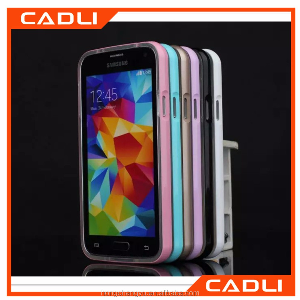 High quality Ultrathin TPU Electroplating Aluminum Metal Frame Bumper case for Samsung galaxy s6 s5