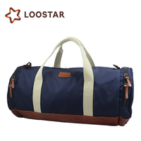 2017 Dark Blue Men Canvas Duffel