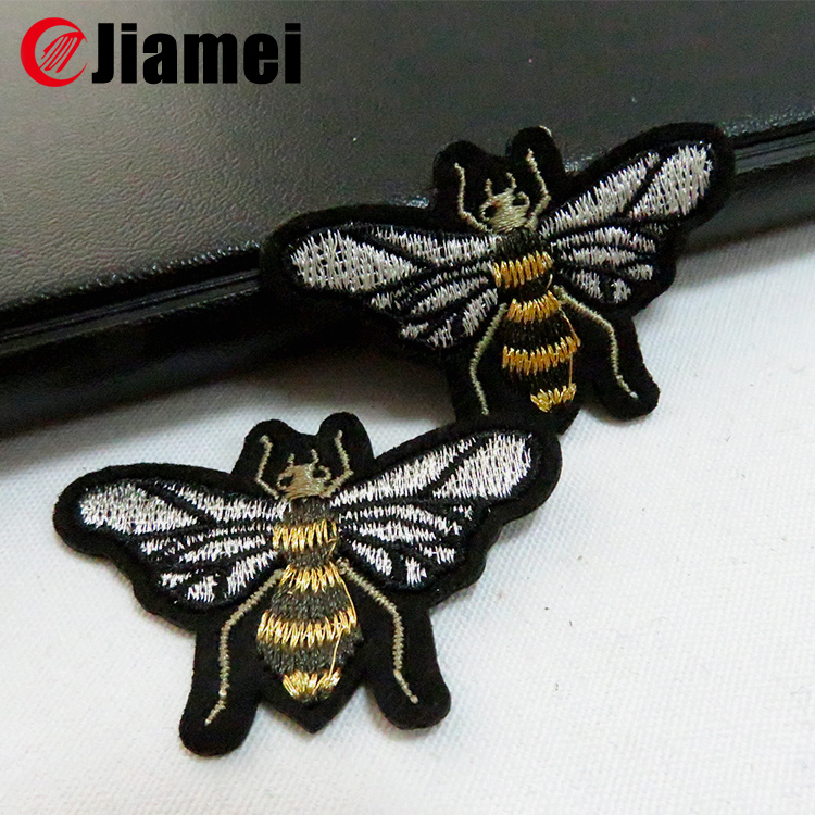 animal embroidered bee patches