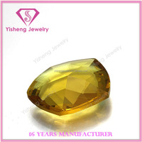 Synthetic Clear Crystal Glass Gems Stone Price Yellow Sapphire Rough