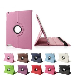 Hot selling 360 degree rotation PU leather case for iPad 2 3 4