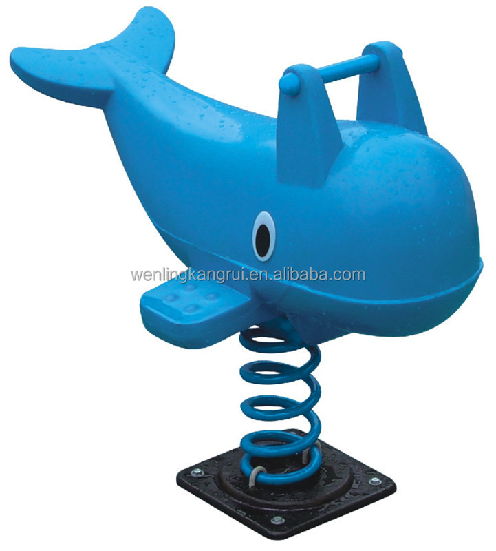dolphin animal outdoor spring rocking horse for kids