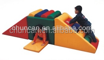2015 fashion design Kid Soft Play kids climbing toys indoor play soft slide