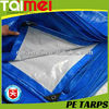 Silver Blue Polyethylene Tarpaulin / PE Tarps Fabric/Canvas/Sheet /Roll for Truck & Boat