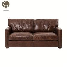 Cheap Wood Frame Leather Vintage Furniture China Sofa