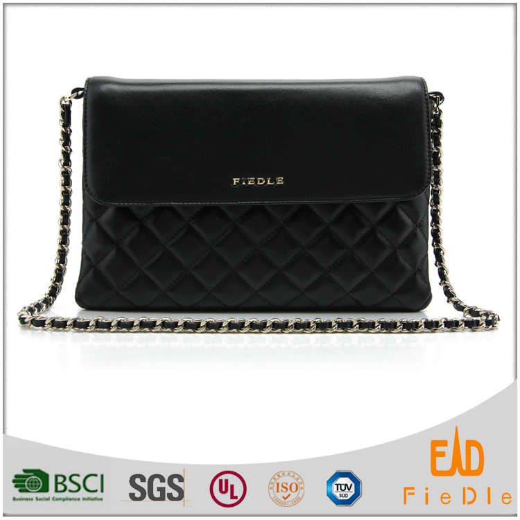 CSS1547-001-top stitching genuine leather shoulder luxury evening bag for women from Guangzhou