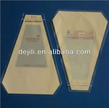 triangle shaped plastic bags for food packing