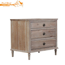 Storage Furniture Living Room Antique Vintage Soild Wood Side Cabinet With 3 Drawers