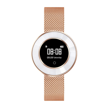 High quality ladies ceramic silver modern brand fitness wear Android IOS Bluetooth smart watch