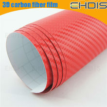 latest car accessories car wrapping film carbon 3d stickers fiber carbon pvc decorative film
