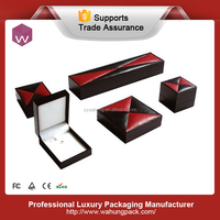 special fancy handmade economic pu leather jewelry gift boxes set