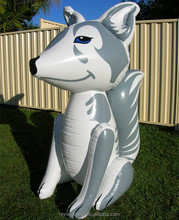 PVC inflatable fox toy for kids/giant inflatable fox model for advertising
