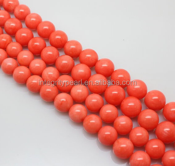 10mm natural orange coral semi finished jewelry beads