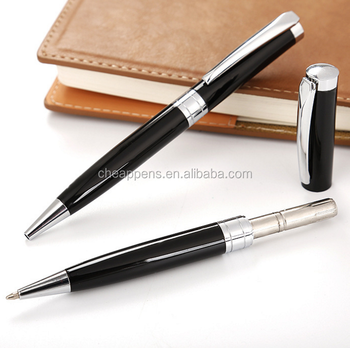 luxury and exquisite black metal pen for business office