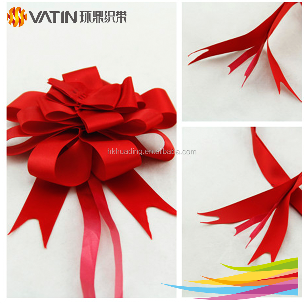 Wholesale various material pull wrap gift ribbon bow