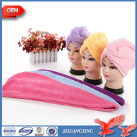 China Factory Production Quick Dry Absorbent Soft Microfiber Hair Towel