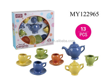 Multicolor and variety styles toy kitchen sets ceramic tea set