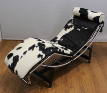Home furniture cowhide relax LC4 easy chair Pour Chaise longue chair