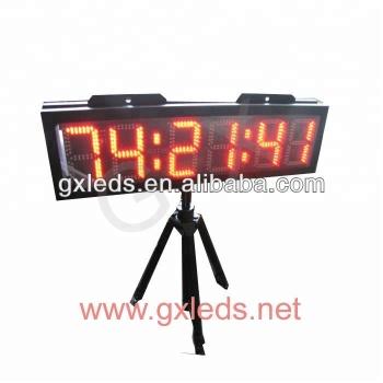 outdoor big screen double face led clock