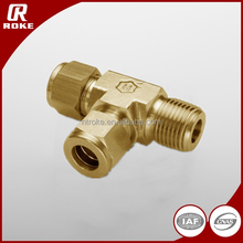 DIN 2353 high quality 3 Way brass ferrule male run union tee from China Supplier