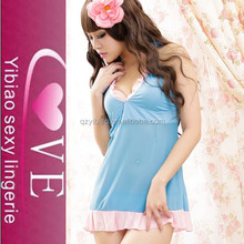 New Classy Lace Mesh Intimate Apparel Mature Women Sexy Babydoll Lingerie With G-String