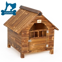 Antique Large Dog House W Roof Solid Wood Pet house Outdoor Dog Kennels Crates