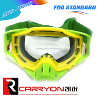elastic anti slip silicone strap windproof goggles motocross,tear off dustpoof motocross goggle,racing motocross goggles