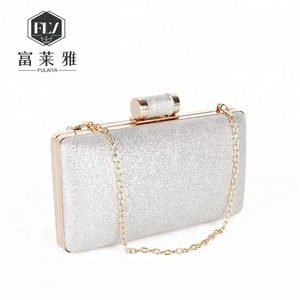 Glitter evening clutch ladies hand bags with chain