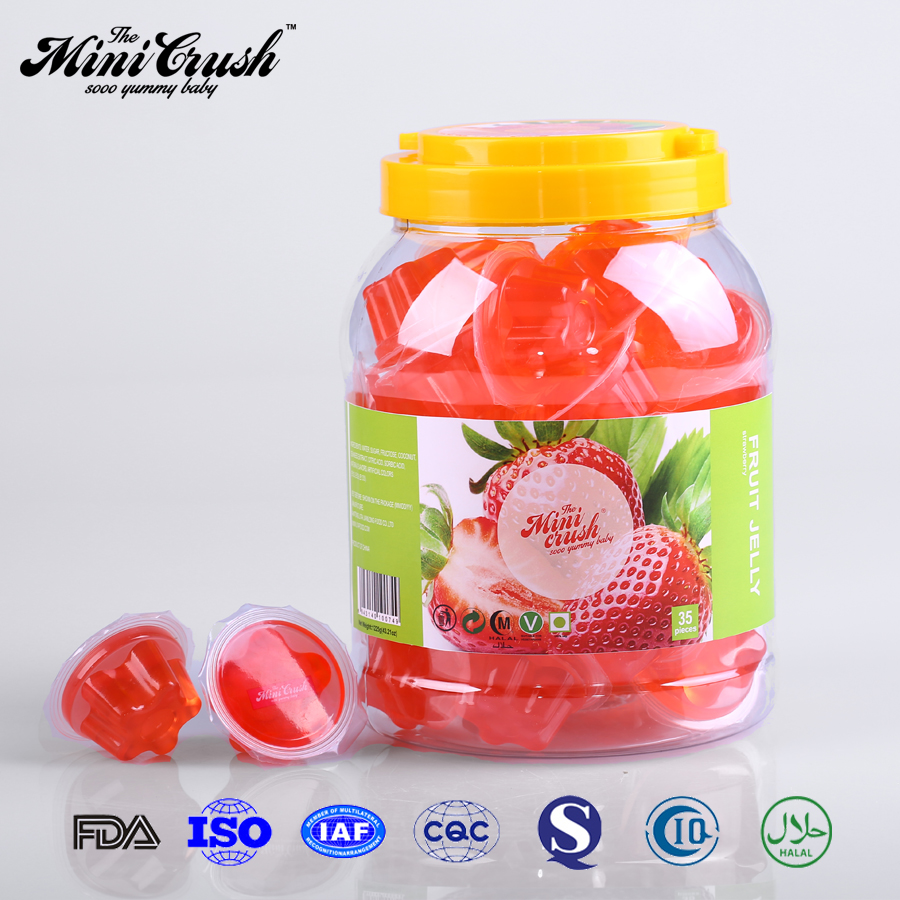 OEM custom colorful Strawberry mini fruit jelly cup