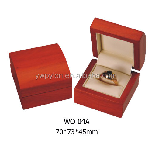 WO-04 Red lacquer style wooden box for wedding gift